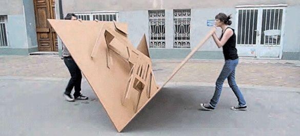Möbel aus Pappe zum Aufklappen | Bluhm Systeme Blog