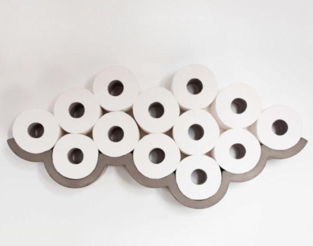 Toilettenpapier Aufbewahrung klopapier regal aus beton bluhm systeme