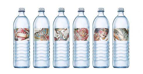 Die Vöslauer Mineralwasser AG setzt ihr Mineralwasser gekonnt mit Tattoo Etiketten in Szene.