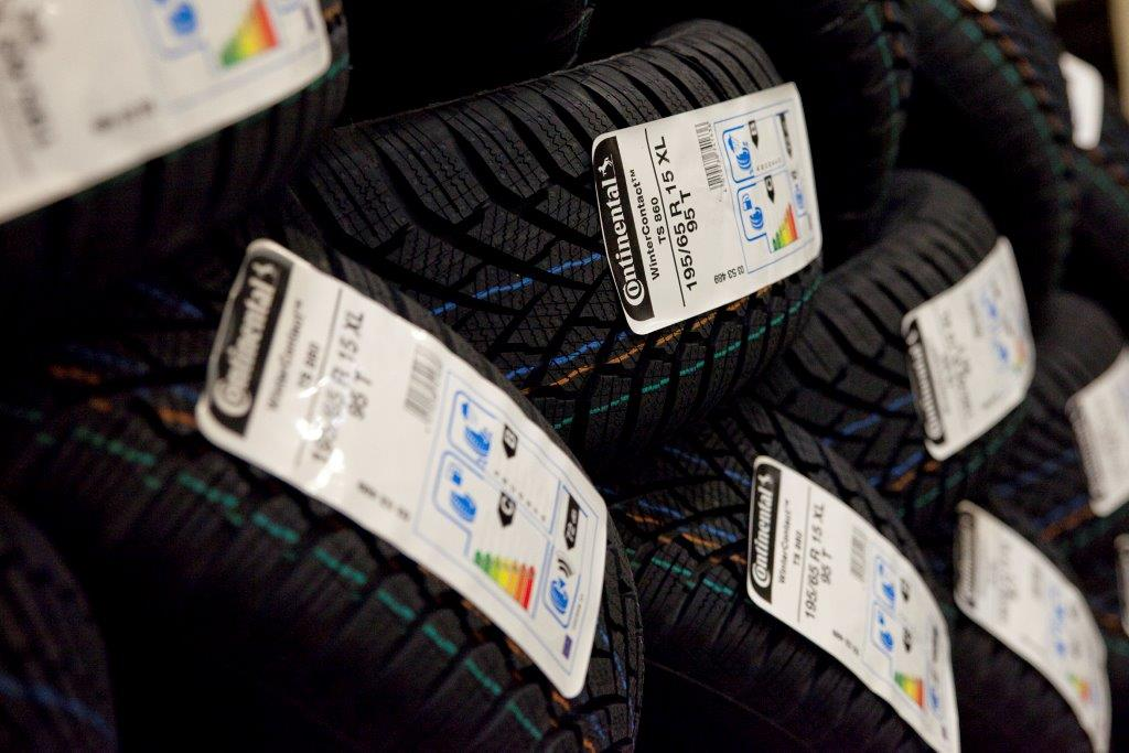 EU-Reifenlabel auf Continental-Reifen
