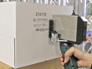 Ideal für standortunabhängige Logistik-Kennzeichnungen: Handdrucker X1JET HP HandHold
