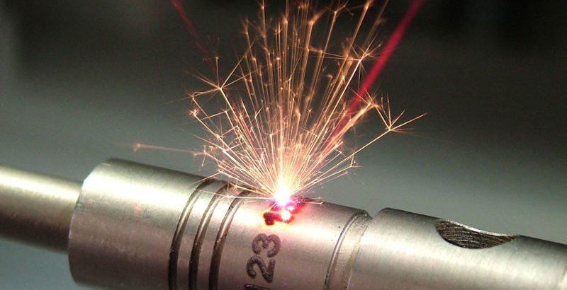 Laserbeschriftung auf Metall