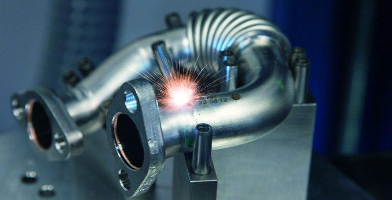 Lasercodierung auf Abgaskrümmer