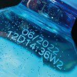 Laserbeschriftung auf PET-Flasche