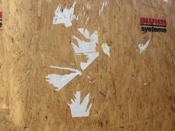Etiketten lösen von Holz