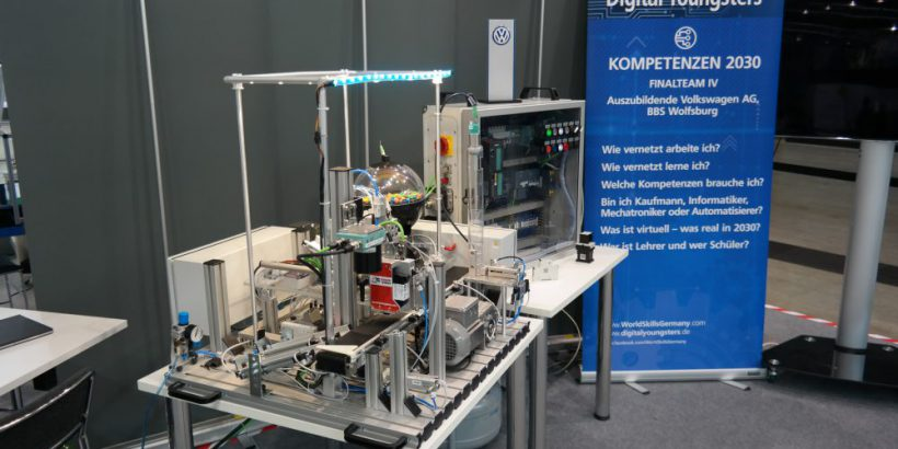 Kleinteileanlage mit integrierten Industrie 4.0 Technologien