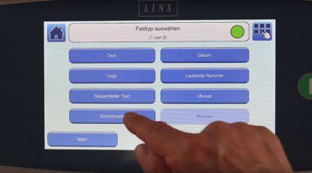 Schichtcode einstellen beim Linx 8900