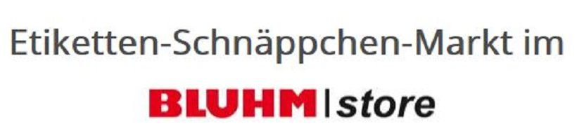 Etiketten Angebote Bluhm Store