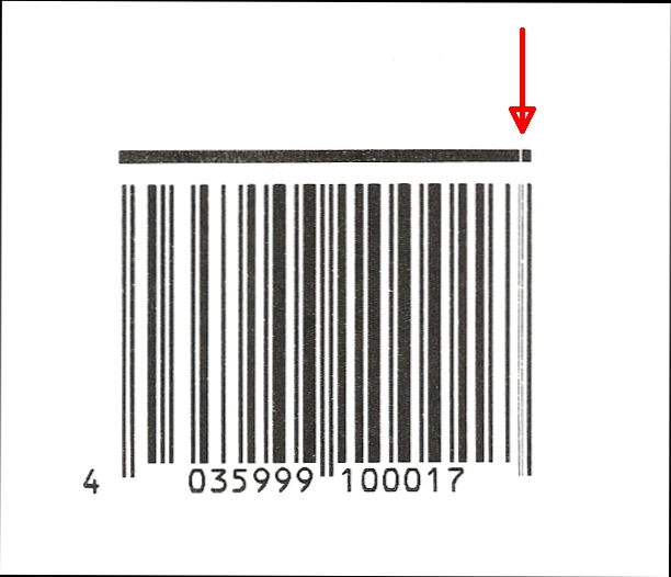 Fence barcode with verification line