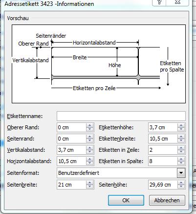 Din A4 Etiketten Bedrucken Mit Word 2010 Bluhm Systeme
