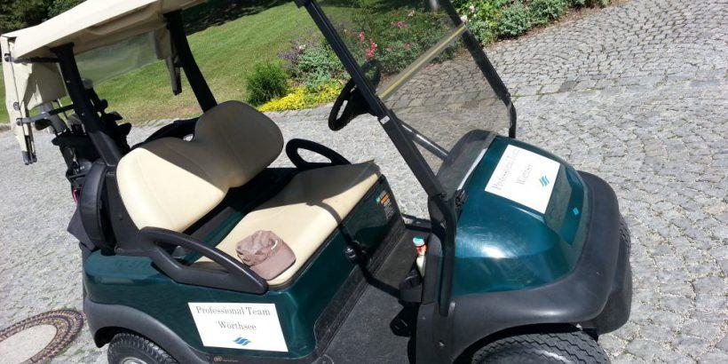 Kennzeichnung Golf Carts mit Etiketten