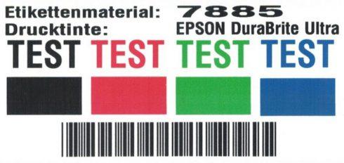 Testergebnis UV-Beständigkeit Epson Tinte
