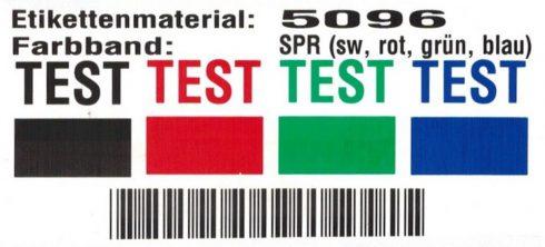 Testergebnis UV-Beständigkeit Thermotransferdruck