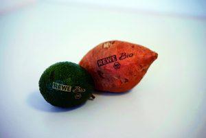 Obst und Gemüse lasern ist eine Alternative zur Plastikverpackung.