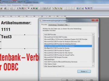Legitronic Labeling Software - Verbindung mit einer Datenbank