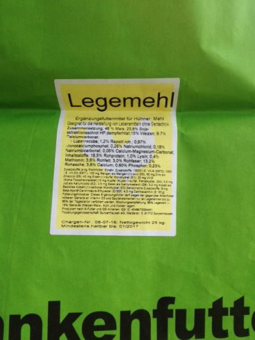 Etiketten auf Säcken