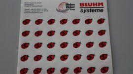 kostenlose Aufkleber Bluhm Store