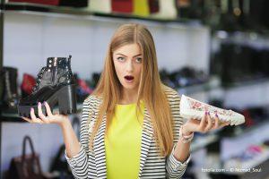 """Wo ist das passende Gegenstück? Ein neuer Identifikationsstandard """"verheiratet"""" Schuhe miteinander, sodass sie leicht identifiziert und zugeordnet werden können. Bildquelle fotolia.com - © Nomad_Soul"""