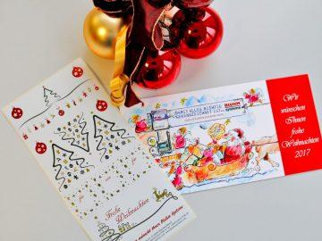 Weihnachten Etiketten Bluhm