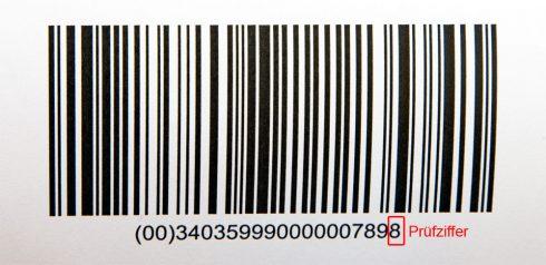 Barcode mit Prüfziffer