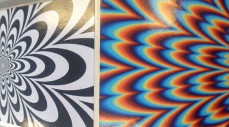 Etiketten optische Täuschung
