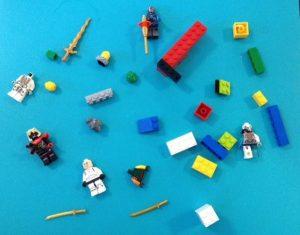 Lego kleben