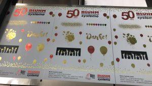 Gold Etiketten Bluhm Systeme