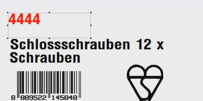 Screenshot auf dem Etikettensoftware-Tutorial für Legitronic Labeling Software