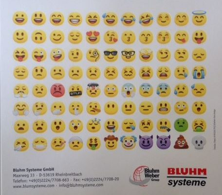 Etiketten im Bluhm Store: Emojis