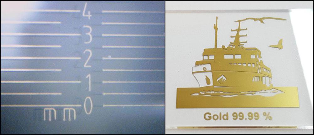 Laser und PVD Kombination mit Feingold