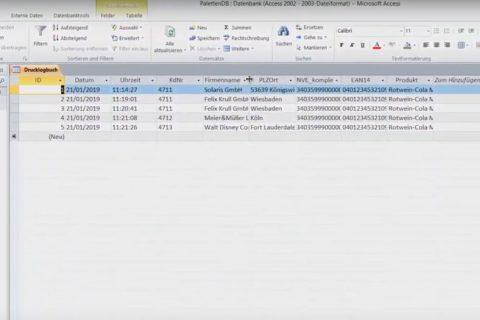 Ausschnitt aus dem Legitronic Video-Tutorial zum Erstellen eines Etikettendruck-Logbuchs