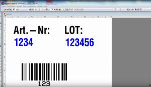 Ausschnitt aus dem Legitronic Video Tutorial: Etikett gestalten mit Eingabefeld
