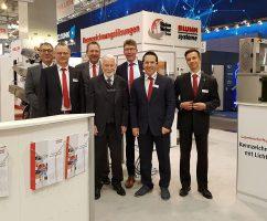 Das Bluhm Systeme Team auf der Hannover Messe 2019