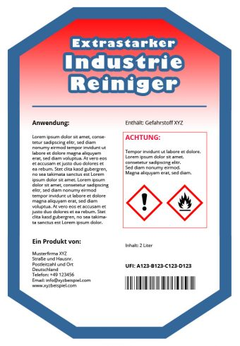 UFI Etikett Beispiel