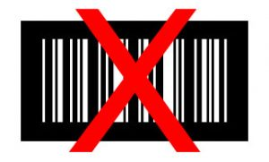 Barcode weiß auf schwarz