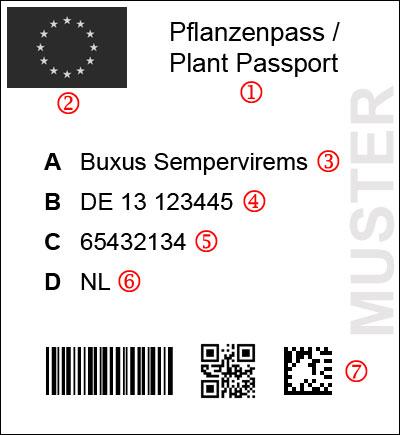 EU-Pflanzenpass Muster
