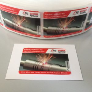 Booklet-Etiketten Bluhm Systeme