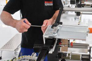 Reparatur an einem Kennzeichnungssystem