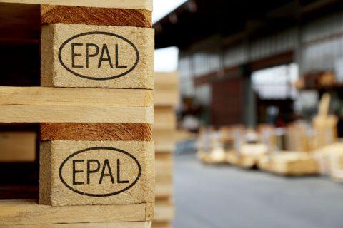 EPAL Palette mit Prüfzeichen