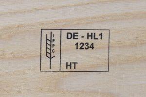 Etichetta a getto d'inchiostro su legno