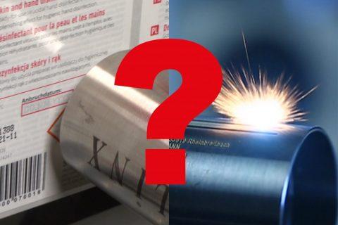 Tinte oder Laser?