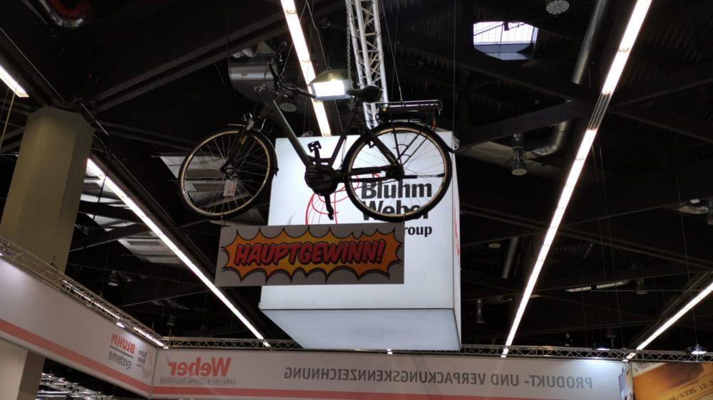Bluhm Systeme auf der FachPack 2019 Gewinnspiel E-Bike