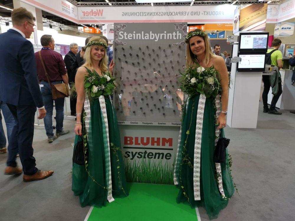 Bluhm Systeme auf der FachPack 2019 Gewinnspiel Steinlabyrinth