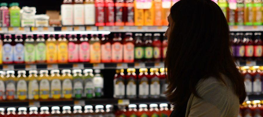 Lebensmittel einkaufen im Supermarkt