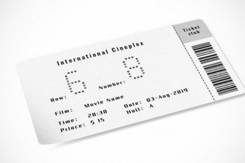 Shiny Movie Ticket