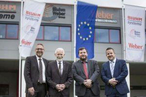 Firmengründer Eckhard Bluhm und seine drei Söhne