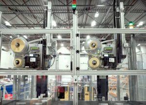 Vollautomatische LPN-Etikettierung mit Etikettendruckspendern Legi-Air 6000