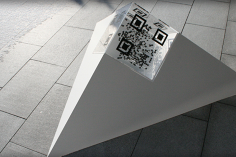 QR-Code Kunst Trinity Totale