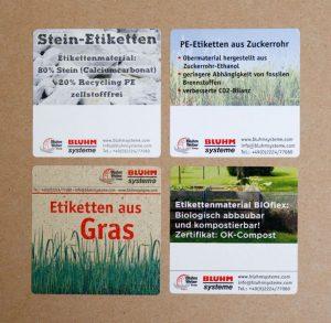 Der Trend geht zu umweltfreundlichen Etiketten.